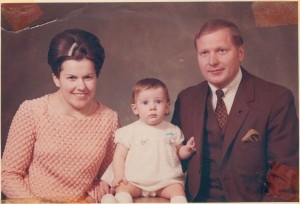 Dad, mom and me 1968