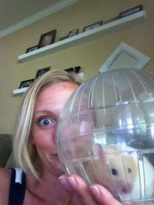 Mom and hamster