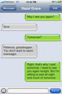 TFIOS text Hazel