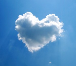 heart shaoed clouds