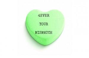 Valentine candy heart blank