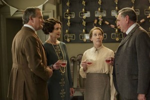 From left: Hugh Bonneville as Lord Grantham, Elizabeth McGovern as Lady Grantham, Phyllis Logan as Mrs. Hughes and Jim Carter as Carson. Photo credit: Nick Briggs
