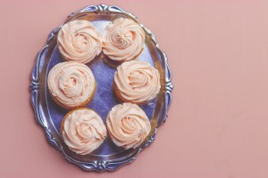 Royal pink cupcakes